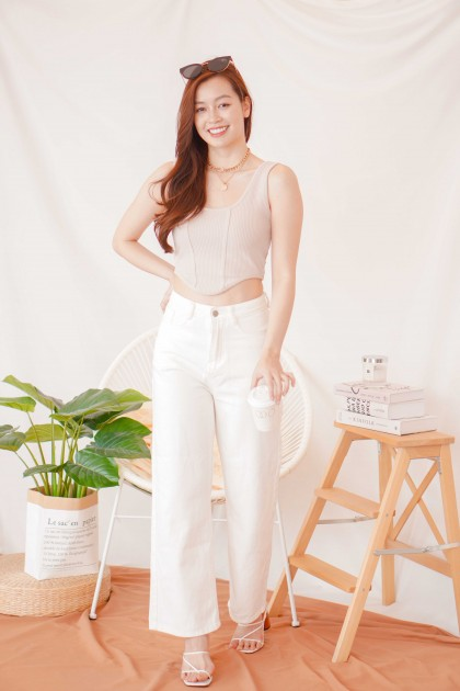 No Doubt About Wide Legged Jeans in White