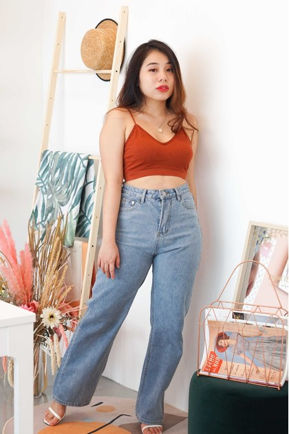 C16 - On The Move Wide Legged Jeans in Blue