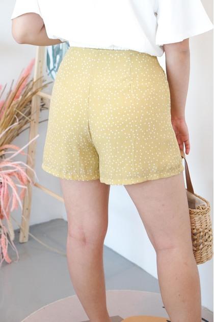 Pop of Sun Yellow Polkadot Shorts
