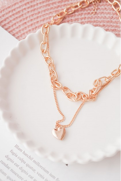 Locked In Love Layered Necklace