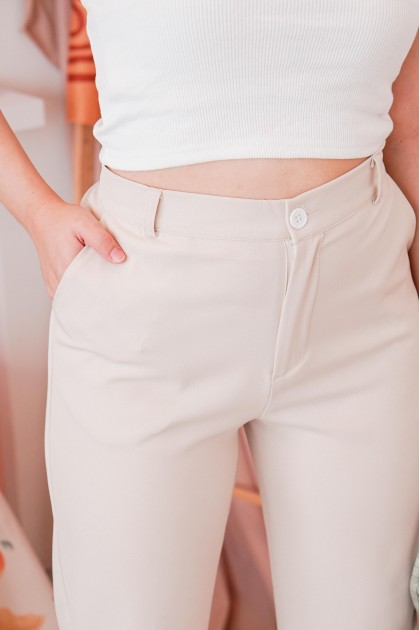 Step Up Pants in Beige