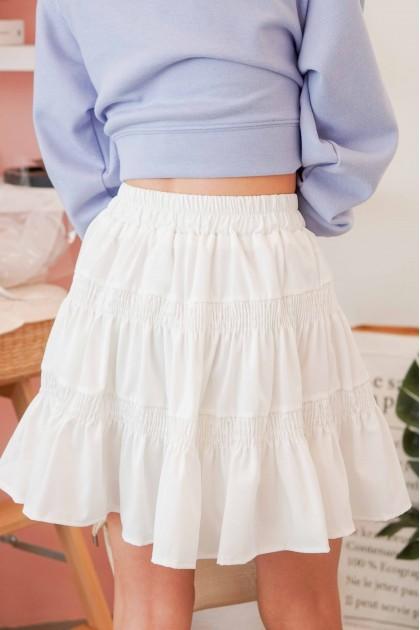 (BACKORDER) Fickle Heart Layered Skater Skirt in White