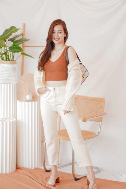 Creme Brulee Jeans in Beige