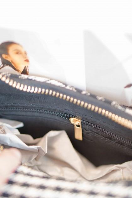 Rome Houndstooth Shoulder Bag