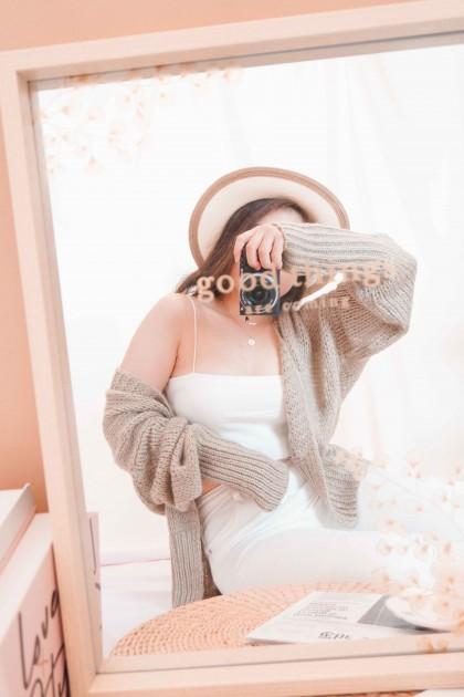 Menlo Knit Cardigan in Khaki