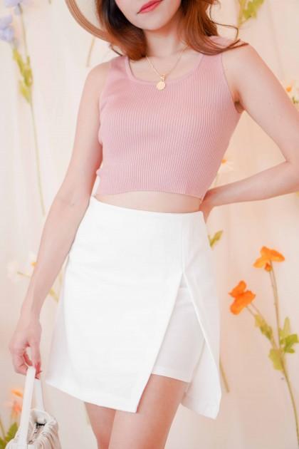 Ellie Basic Knit Top in Pink