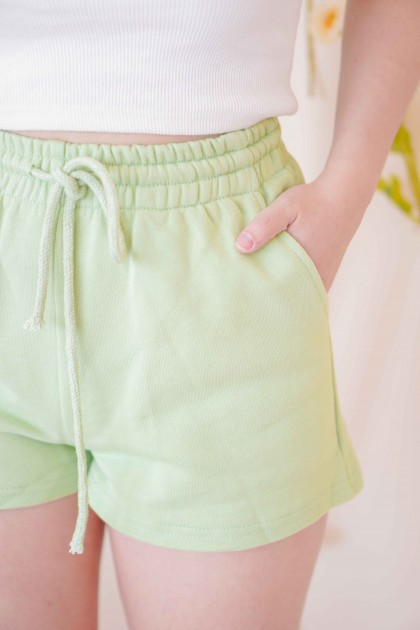 (BACKORDER) Keep it Casual Lounge Shorts in Green