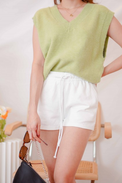 Keep it Casual Lounge Shorts in White