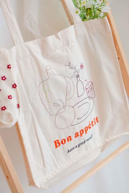 Bon Appetit Canvas Tote Bag