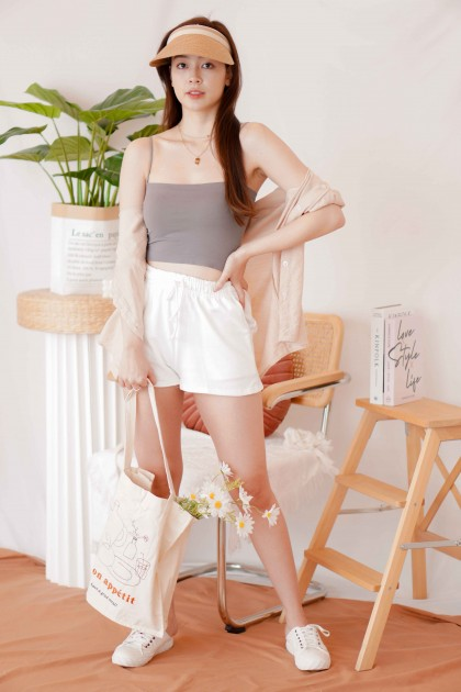 Easy Days Padded Camisole Top in Grey