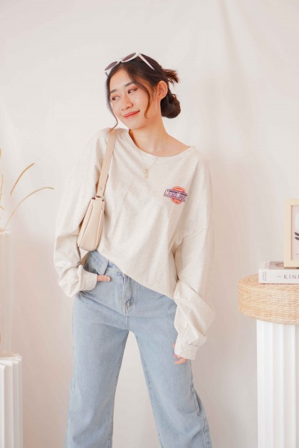 Just Chilling Oversized Graphic Sweater in Grey